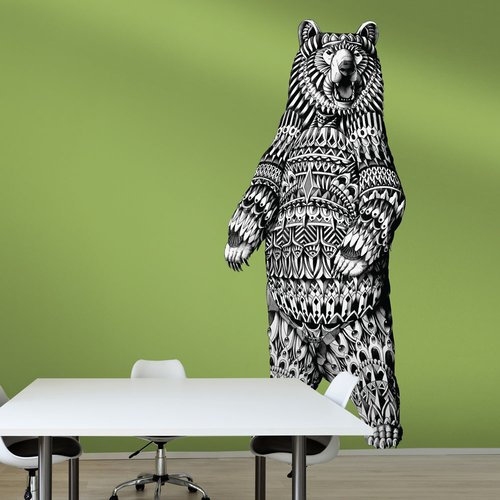 My Wonderful Walls Ornate Grizzly Bear by BioWorkZ Wall Decal