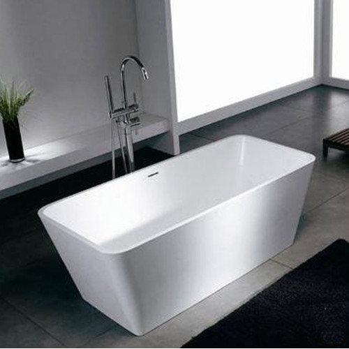 Spa Escapes Blanc 58.25'' x 26.38'' Artificial Stone Freestanding Bathtub