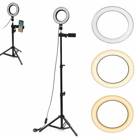 1.2M Dimmable LED Ring Light Lamp Studio Selfie Stand Kit Makeup Phone Video Dimmable Studio Light Kit