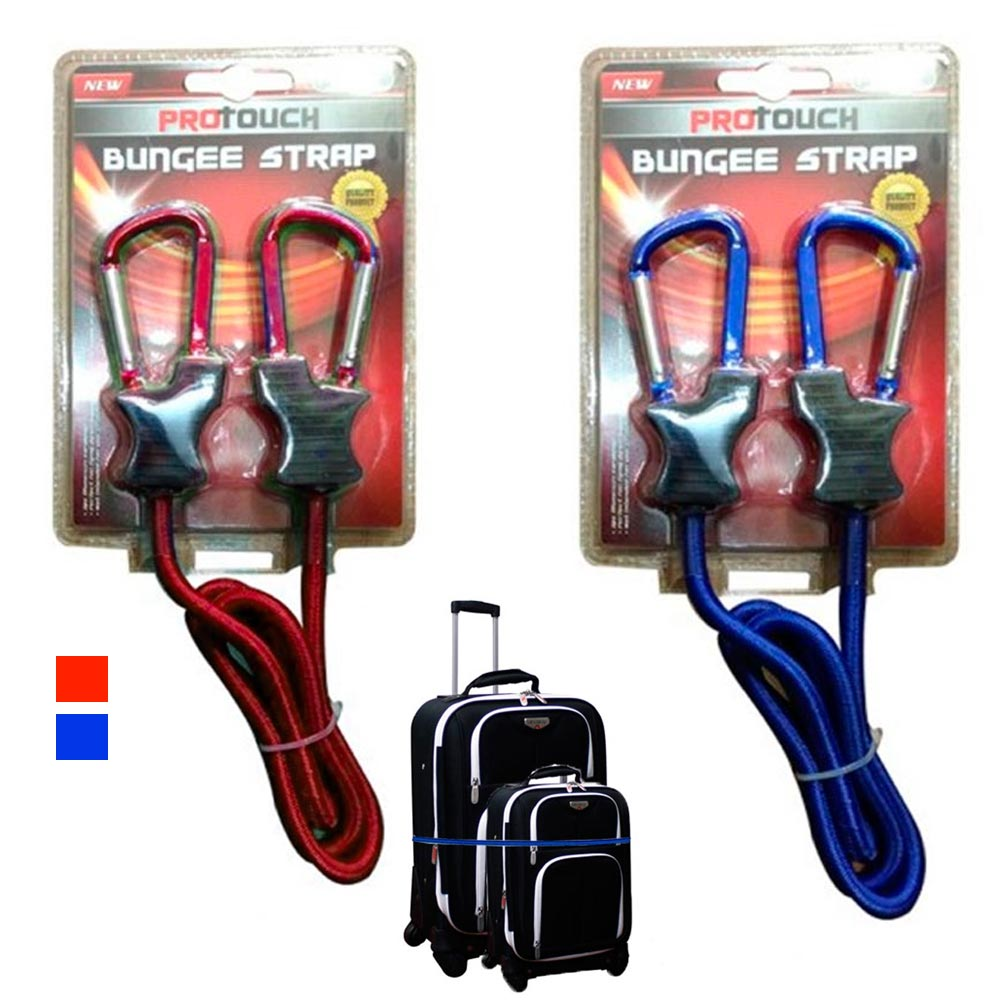 1 Pc Bungee Strap Cord Tie Down Tarp Luggage Aluminum Carabiner Secure Bags 3 Ft by AllTopBargains