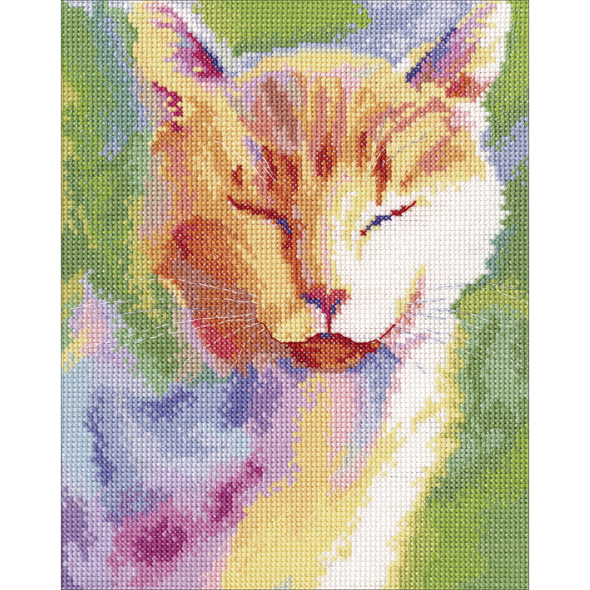 """RTO Counted Cross Stitch Kit 6.75""""X8.5""""-Home Sun (14 Count)"""