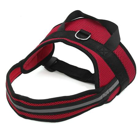 Big Dog Soft Mesh Reflective No Pull Harness Adjustable Large Pet Walk Vest Safe Control Collar