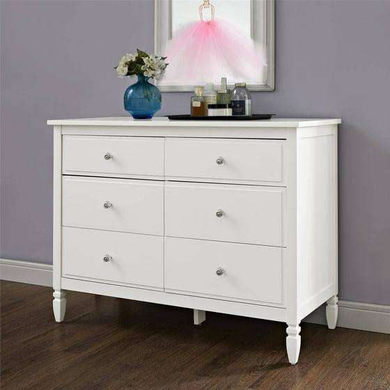 better homes and gardens lillian 6 drawer dresser white. Black Bedroom Furniture Sets. Home Design Ideas