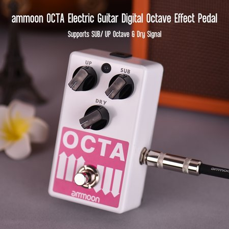 ammoon OCTA Electric Guitar Precise Polyphonic Octave Generator Effect Pedal Supports SUB/ UP Octave & Dry Signal Full Metal Shell with True