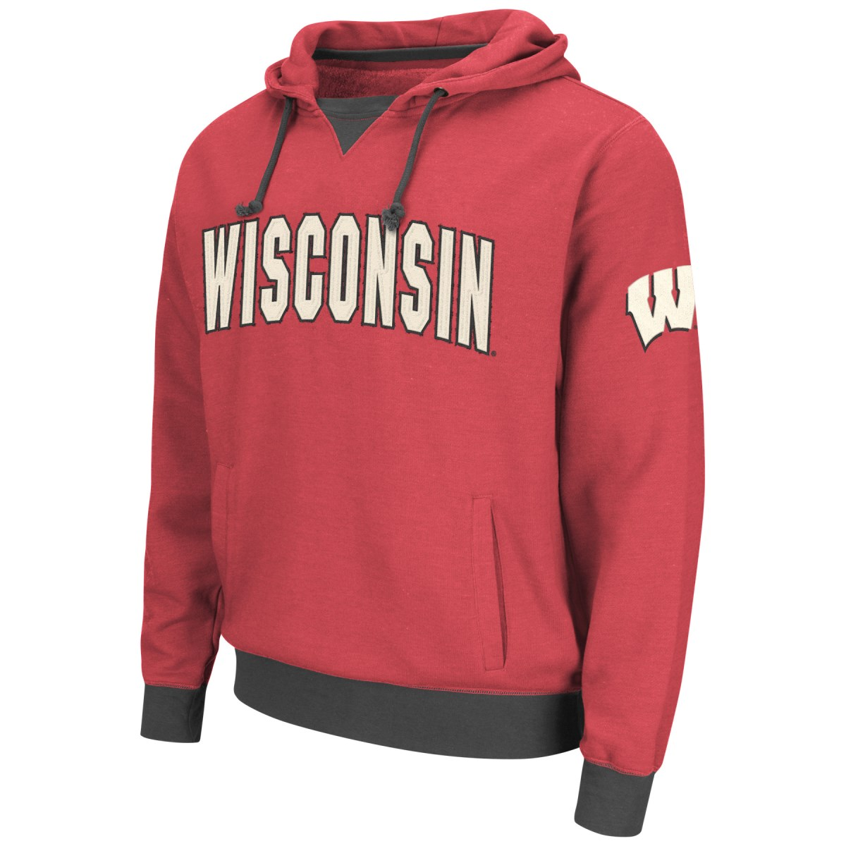 "Wisconsin Badgers NCAA ""Flurry"" Pullover Hooded Men's Sweatshirt"