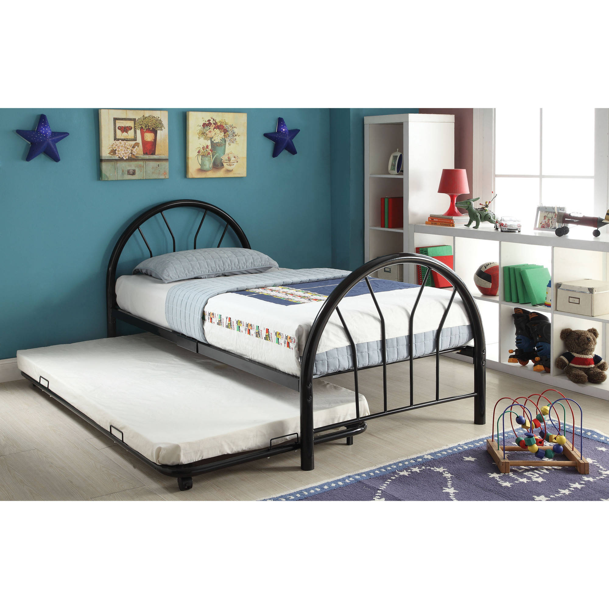 Cailyn Twin Bed With Trundle Black Walmart Com