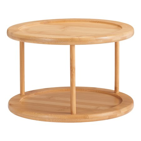 Better Homes & Gardens 2-Level Lazy Susan Bamboo Turn Table ()
