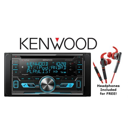 Kenwood DPX593BT CD Receiver with a Pair of KH-SR800R red In Ear Headphones