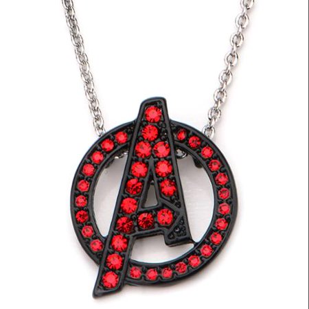 Marvel Avengers Age Of Ultron Avengers Logo with Rhinestones Necklace ()