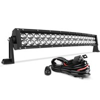 product image 14 inch curved auto work light 4d 200w with 8ft wiring harness,  20000lm offroad driving