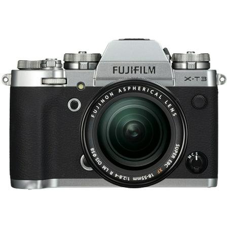 Fujifilm X-T3 26.1MP Mirrorless Digital Camera with XF 18-55mm Lens Kit (Silver)