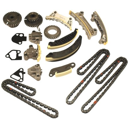 Cloyes 9-0753S Timing Chain Kit; Incl. Camshaft Sprocket/Crankshaft Sprocket/Oil Pump Sprockets/Timing Chain/Chain Tensioners/Chain Guides/Balance Shaft Chain; w/o VVT Sprocket; 15 Pc.;