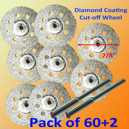 MTP 60+2 Rotary Tool Accessory Fits Dremel Craftsman Diamond Cut Off Wheel Disc 545 (Diamond Wheel Rotary Tool)