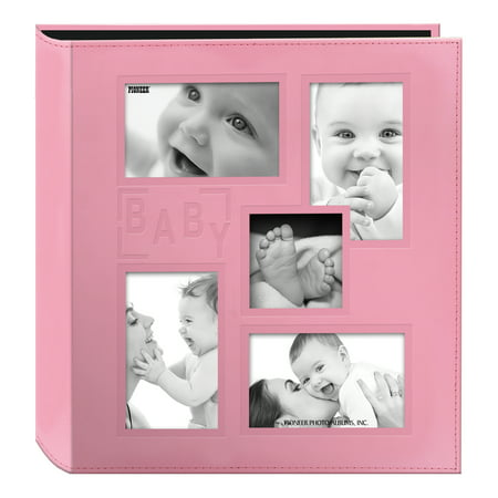 Large Square Album - Pioneer Baby Collage Frame Cover Large Photo Album, Pink