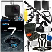 GoPro HERO7 HERO 7 Black 18PC Accessory Bundle - Includes 32GB microSD Memory Card + High Speed Memory Card Reader + Memory Card Wallet + MORE
