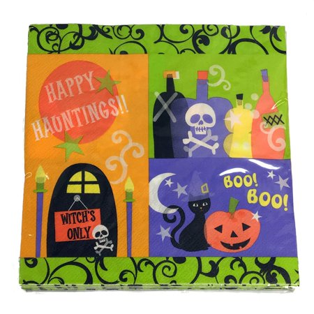 Happy Haunting Halloween Napkins 16 Count 13 x 13 Inch Party Decoration](Halloween Party 13 Sarasota)