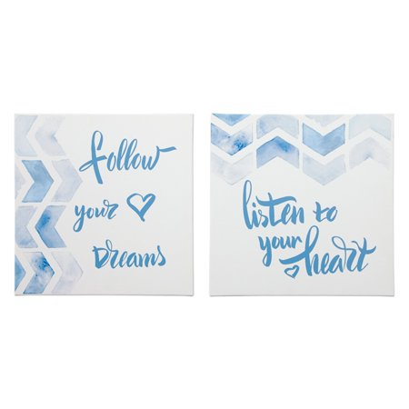 Signature Design by Ashley Ellis Inspirational Canvas Wall Art - Set of 2 ()