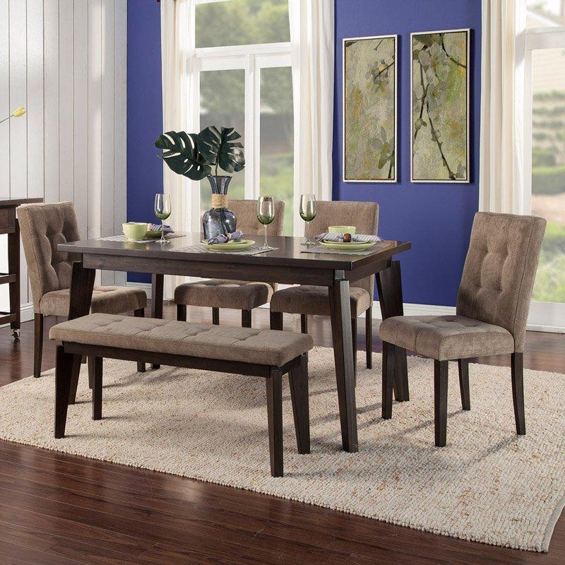 Alpine Furniture Uptown 6 Piece Dining Set