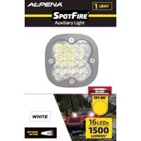 Alpena Spotfire Powerful LED Light, 12V-24V System, White, Cast Alum Alloy