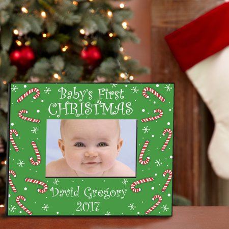 personalized babys first christmas frame