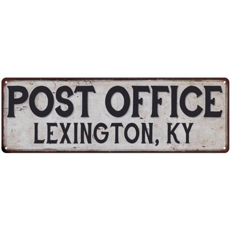 Lexington, Ky Post Office Personalized Metal Sign Vintage 6x18 206180011052 - Halloween Store Lexington Ky