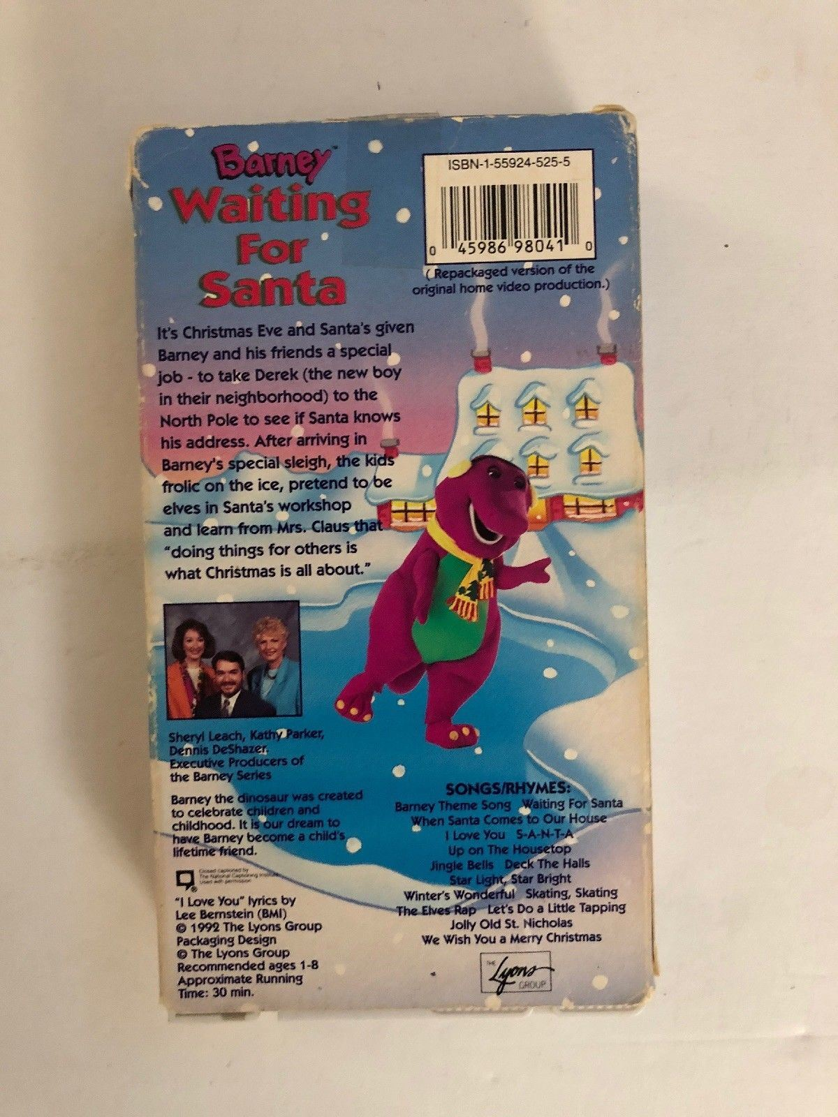 c5008b6969ad Barney Waiting for Santa VHS-TESTED-RARE VINTAGE COLLECTIBLE-SHIPS N 24  HOURS - Walmart.com