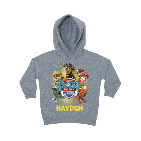 Personalized PAW Patrol Puptastic Grey Toddler Boys' Hoodie for $<!---->