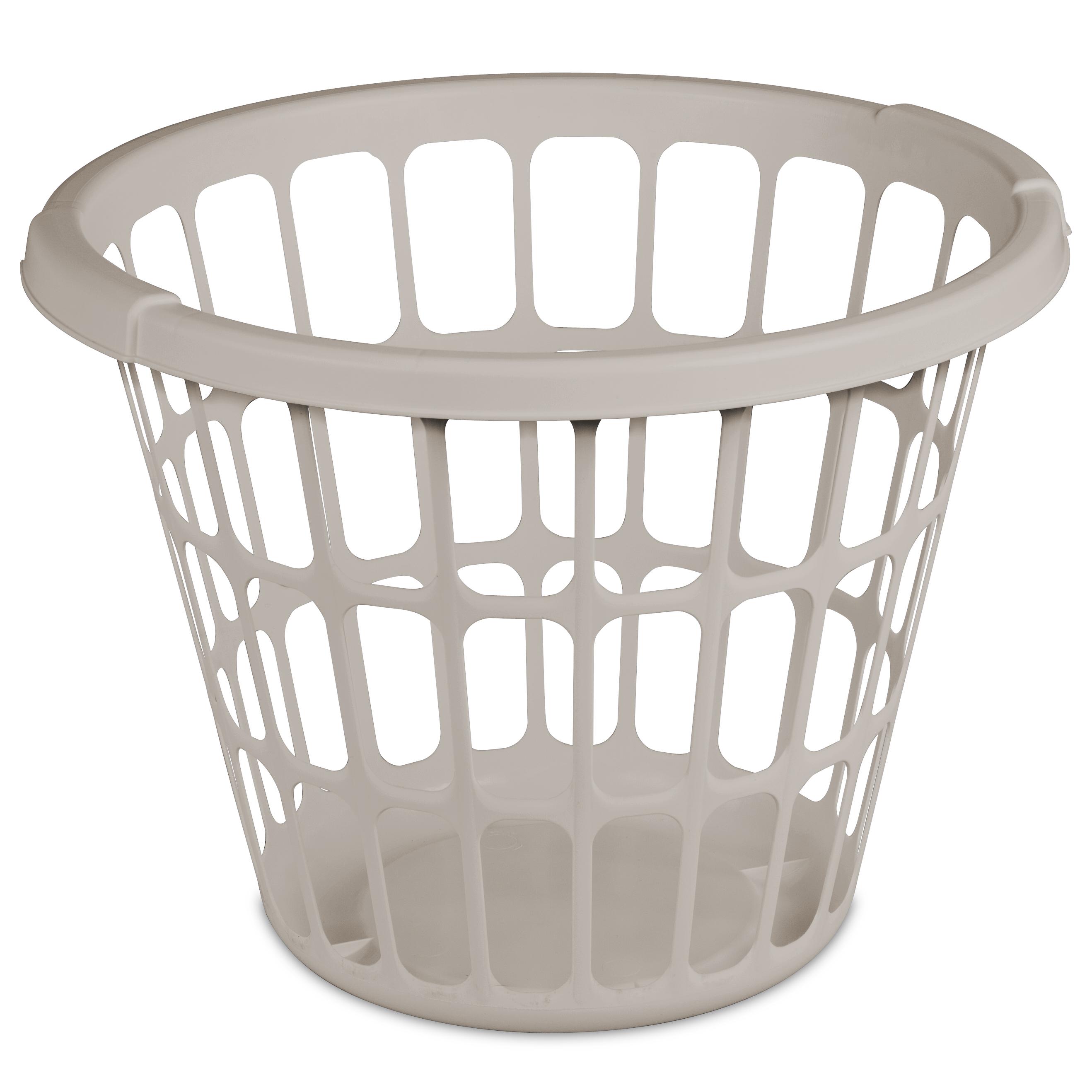 Sterilite Mainstays 1bu Laundry Basket-grey Pumice