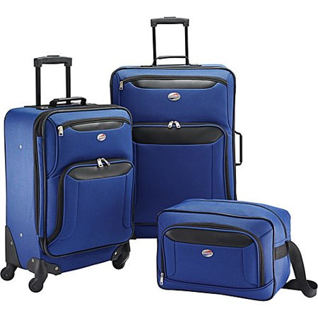 American Tourister Brookfield Navy 3 Piece Spinner Set