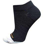 Incrediwear Unisex Sports Sock Low Cut, Black / Orange, XL