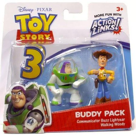 Communicator Buzz Lightyear & Walking Woody Mini Figure - Woody Lightyear