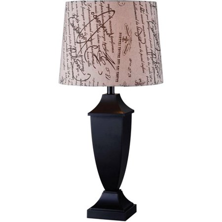 Kenroy Home Bauer Table Lamp, Black