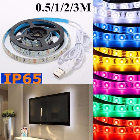 30 LED USB Strip Light 50CM 3528 SMD For TV Background Backlight Computer Party Wedding Home Curtain Decor Christmas Decoration Waterproof IP65 5V](Computer Monitor Christmas Lights)