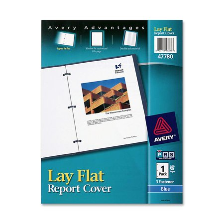 Avery Lay Flat View Report Cover w/Flexible Fastener, Letter, 1/2