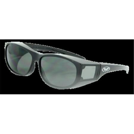 Global Vision Eyewear Escort Safety Glasses, Smoke Tint Lens