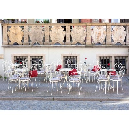 ABPHOTO 7x5ft Outdoor Coffee Shop Backdrop New York City Street Corner Open Air Restaurant Backdrops for Photography White Desk and Chair Narrow Street Photo Background Girls Lover Studio Props](Halloween Props New York City)