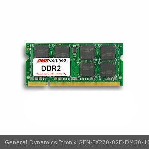 General Dynamics Itronix Ix270 02E Equivalent 1Gb Dms Certified Memory 200 Pin  Ddr2 667 Pc2 5300 128X64 Cl5 1 8V Sodimm   Dms
