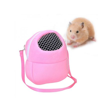 MarinaVida Portable Pet Hamster Travel Warm Bag Animals Carrier Guinea Pig Carry Pouch ()