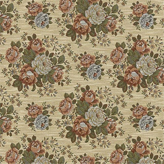 Designer Fabrics F931 54 in. Wide Red, Green And Blue, Floral Bouquet Tapestry Upholstery Fabric