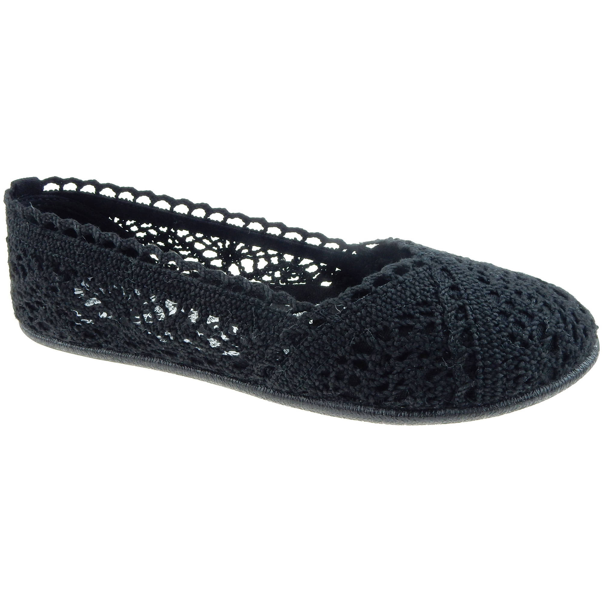 Faded Glory Women's Crochet Casual Flat
