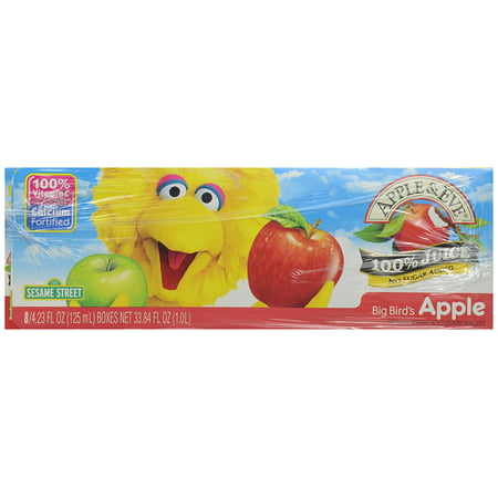 - Apple & Eve 100% Juice Big Bird's Apple, 8 ct, Made with pure juice and no added sugar By Apple Eve