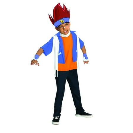 Gingka Beyblade Metal Fusion Anime Cartoon Boys Child Halloween Costume Blue (XL) (14-16) - Halloween Kids Cartoon