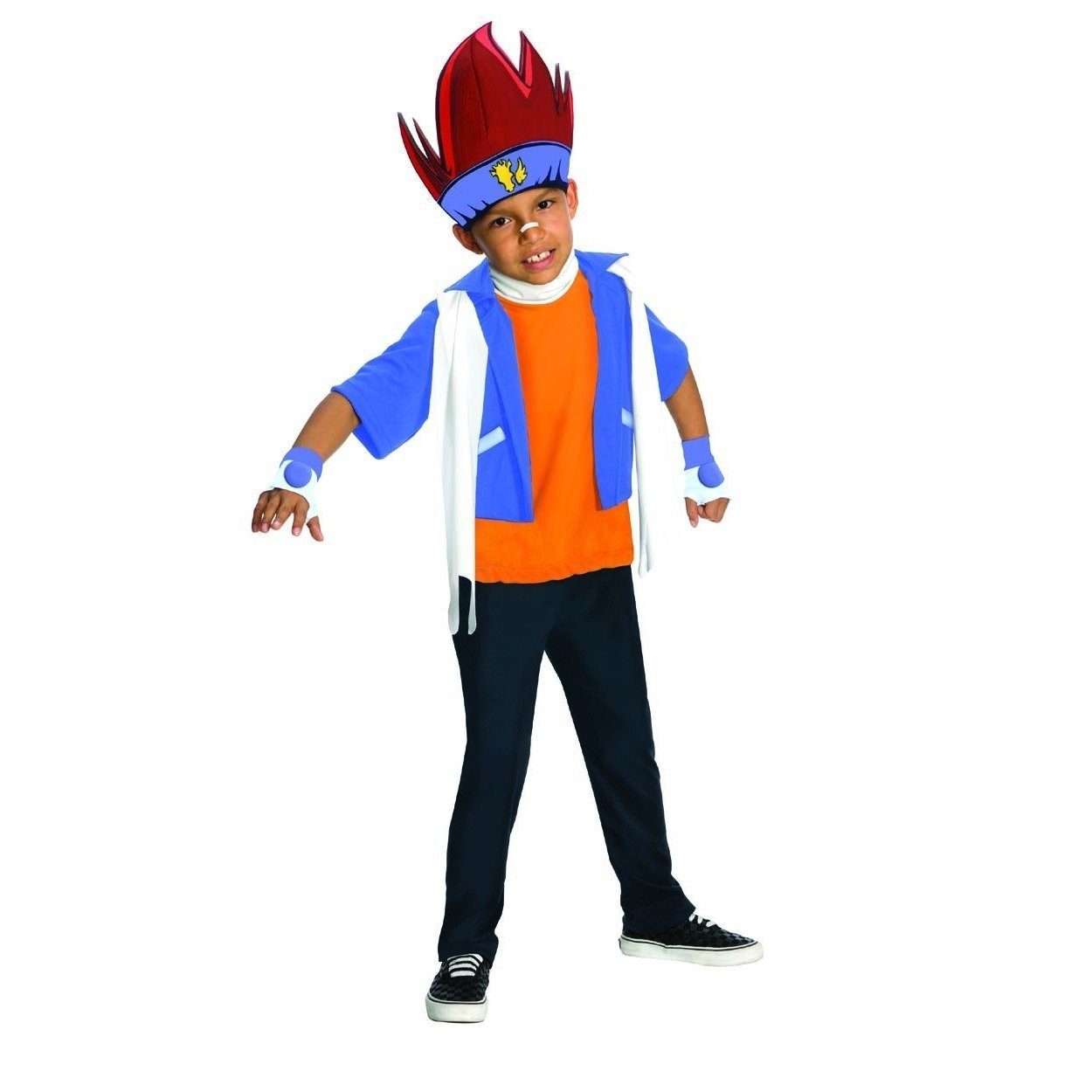 Gingka Beyblade Metal Fusion Anime Cartoon Boys Child Halloween Costume Blue (XL) (14-16)