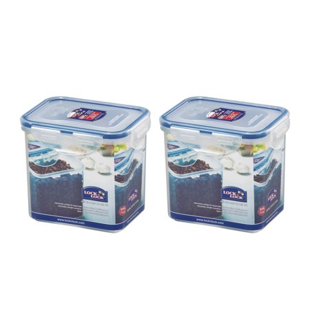 Lock & Lock Easy Essentials Pantry 3-Cup Rectangular Food Storage Container, Set of 2