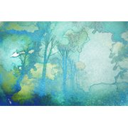 Parvez Taj Watermark Forest Art Print On Premium Canvas