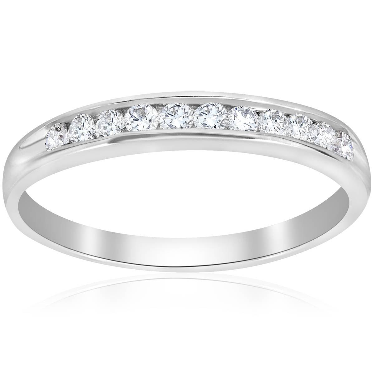 f9b0c234c49 Engagement Anniversary Ring 14K White Gold Round Cut 0.25 Ct New Diamond  Jewelry