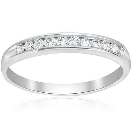 Engagement Anniversary Ring 14K White Gold Round Cut 0.25 Ct New Diamond (Best Round Engagement Rings)