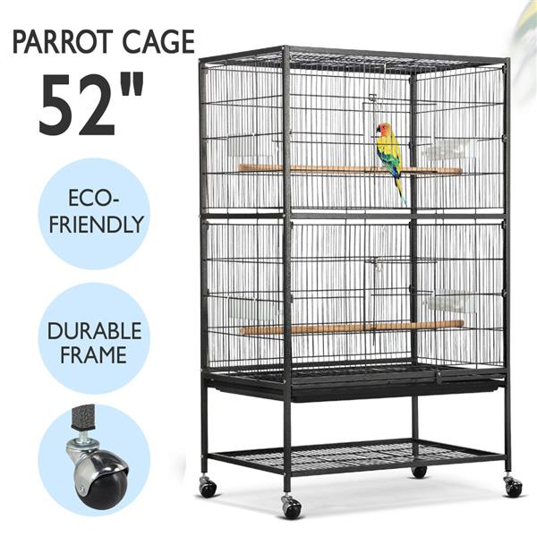 Topeakmart Large Play Top Bird Cage Parrot Finch Macaw Cockatoo Birdcage