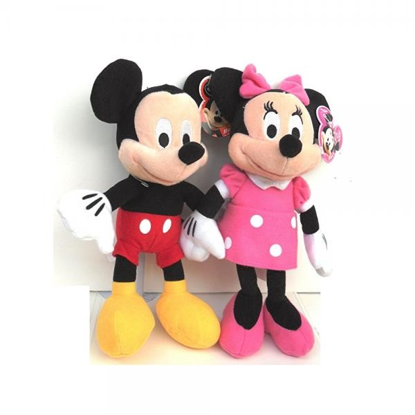"Disney Mickey and Minnie Mouse 10"" Plush Bean Bag Doll"