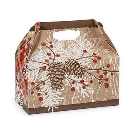 2 Unit Woodland Berry Pine Gable Boxes 9.5 x 5 x 5